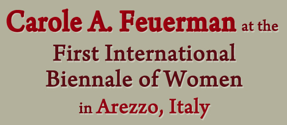 Carole A Feuerman at the First International Biennale of Women in Arezzo Italy