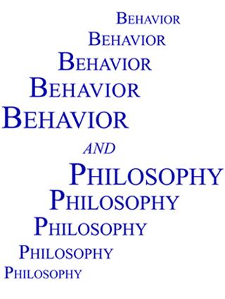 Behavior and Philosophy