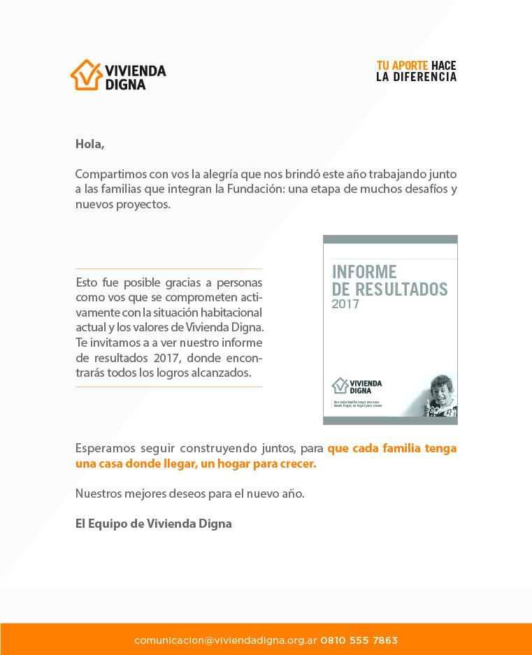 Informe de Resultados 2017-Vivienda Digna