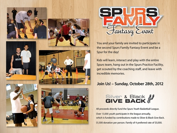 Spurs Family Fantasy Invite