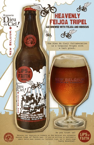 image of New Belgium Lips of Faith Series Heavenly Feijoa Tripel sourced from the brewery