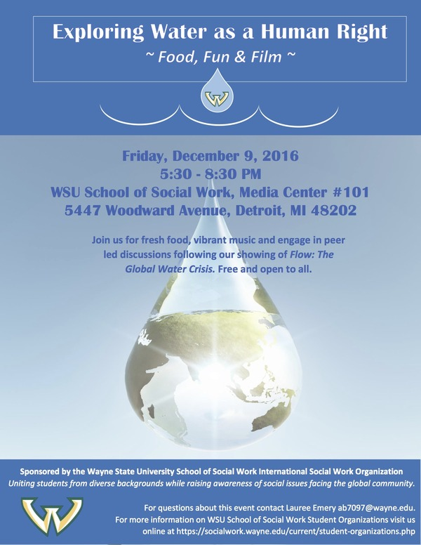 12.09.16 Water as a Human Right Flyer