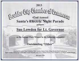 Boulder City Parade Award