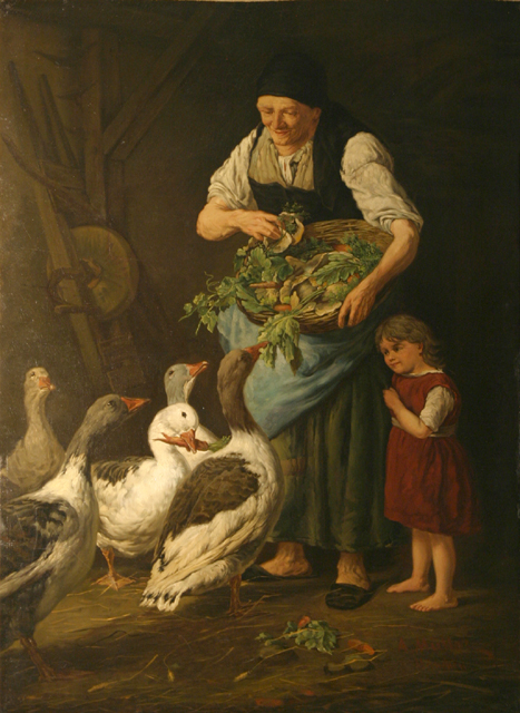 Feeding the Geese - Muller_A