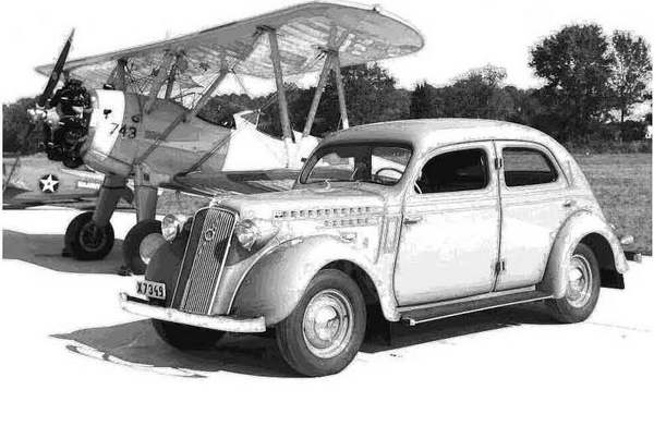 classic car and plane