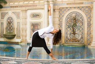 Image Woman White Yoga Pose