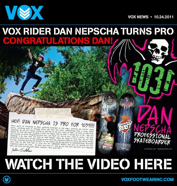 Dan Nepscha turns pro