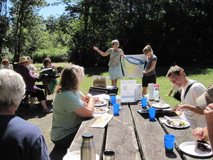 Tasty lunch and groundwater info