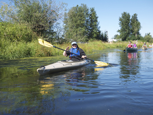 Paddling on the Slough