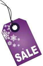 purple tag for Christmas sale