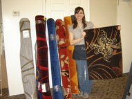 Raegan with rugs