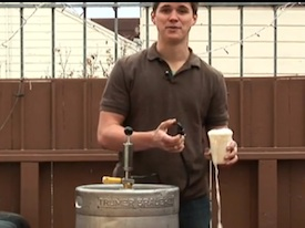 how to open a keg without a tap