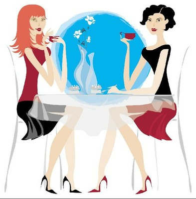 Image Gallery Ladies At Lunch Cartoon