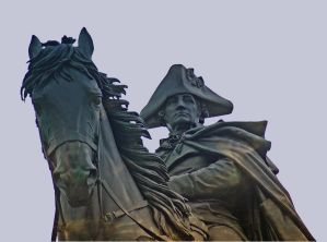 Statue of George Washington on horse