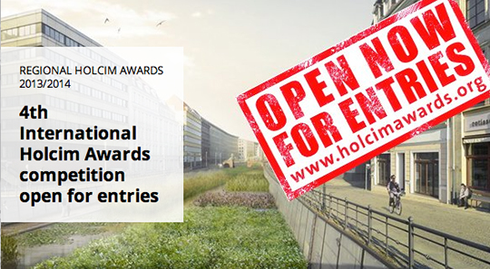 Holcim Awards - Open Now For Entries