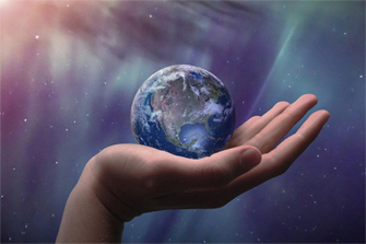 hand holding planet Earth-smaller 3