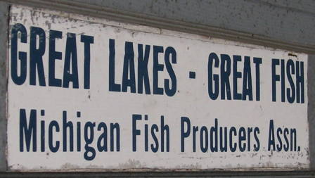 Great Lakes Great Fish Sign