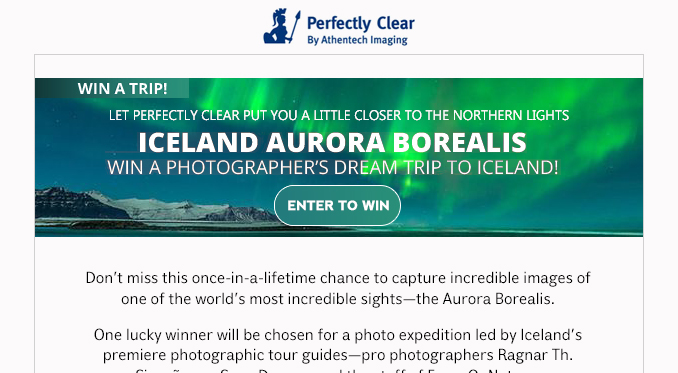 Picture Yourself Winning A Trip to Iceland!