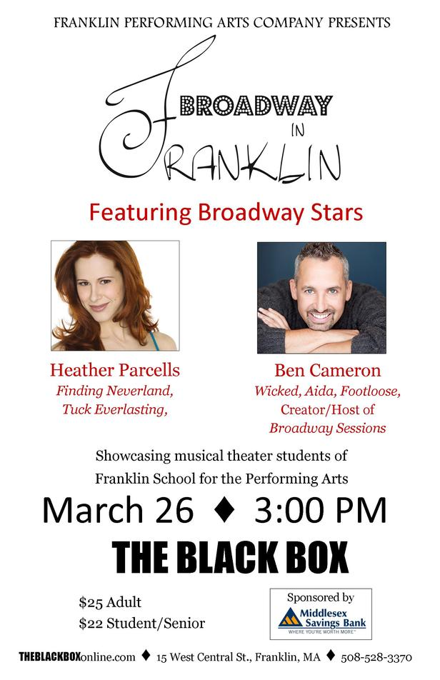 broadway in franklin show poster