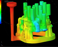 FLOW-3D-Cast filling simulation