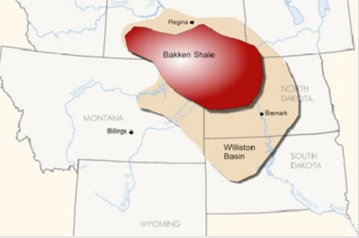 Bakken Shale - EIA Map