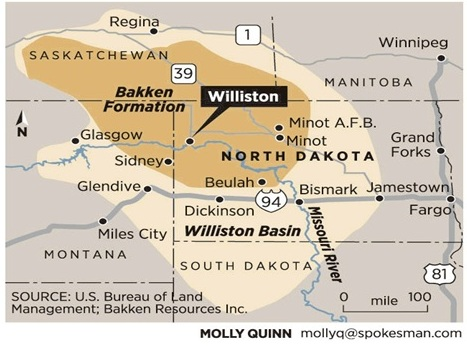 Bakken Formation Map