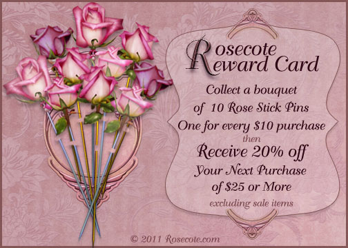 Rosecote Reward Card
