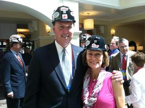 BillandSharonRNC Convention Hardhats2