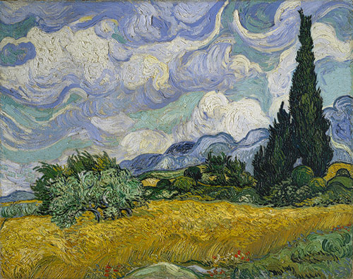 Van Gogh Wheat Field with Cypresses 1889 2