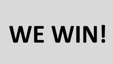 we win