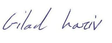 Gilad Signature English