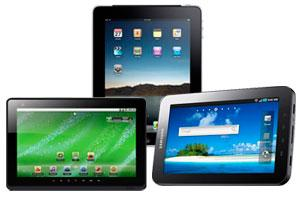 image of three different types of tablets
