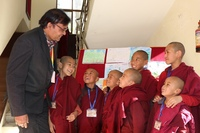 Principal and kids Nepal 3