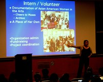 AAWAA UC Berkeley lectureCatherine Ceniza Choy Asian American Studies cynthia discussing internships 3