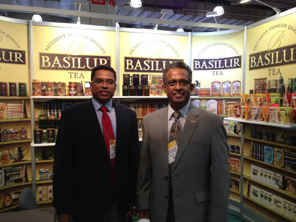 Ambassador Kariyawasam with Hemantha Perera of Basilur Tea.