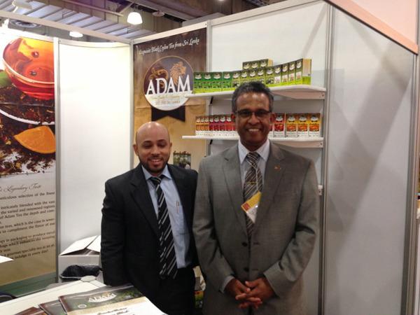 Ambassador Kariyawasam with Idris Shabbir of Adamexpo