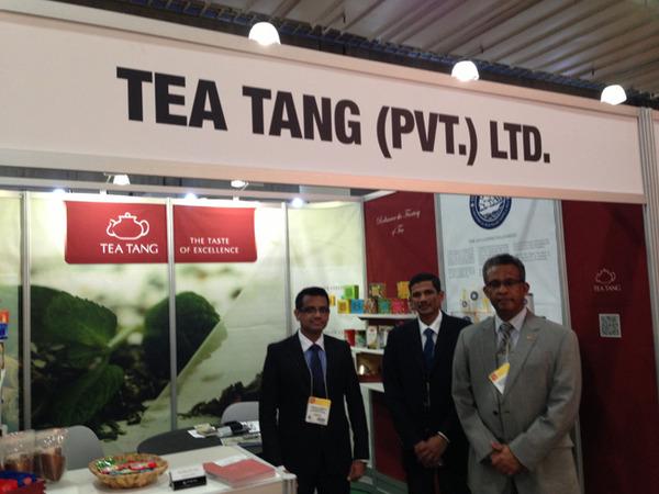 Ambassador Kariyawasam with CHaminda Karunathilake and Anton Rajendram of Tea Tang