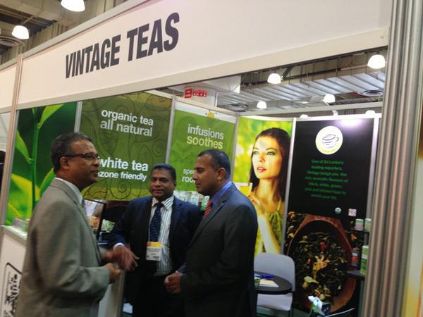 Ambassador Kariyawasam with Mahinda Karunanayake and Vinod Vijethunga of Vintage teas