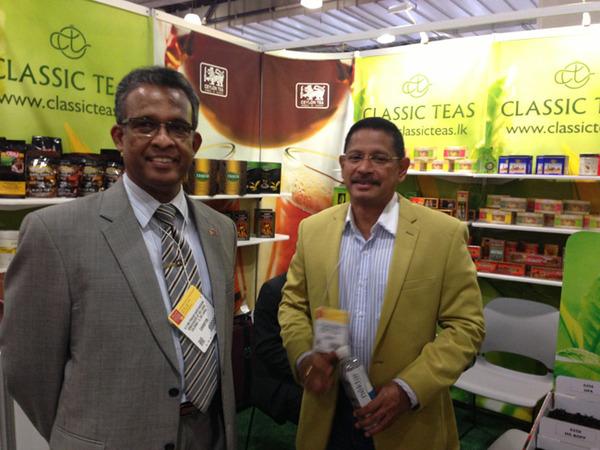 Ambassador Kariyawasa with Yasas Mihinkanda of Clasic Teas
