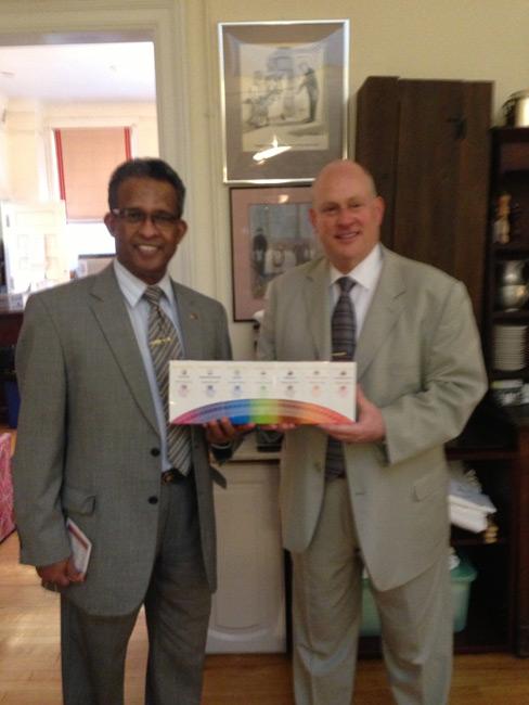 Ambassador Kariyawasam with Mark Jeffe, Presiden tof New York Chamber of Commerce