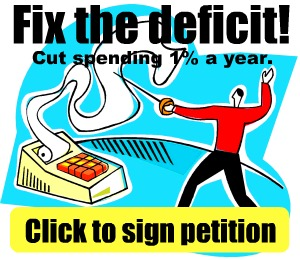 End US Deficit In 6 Years Using Mack 1% Plan--Sign Petition Now
