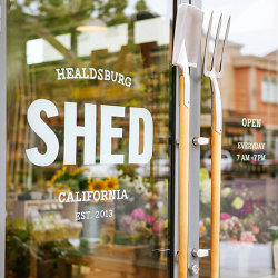 SHED Healdsburg Red Car Wine Event