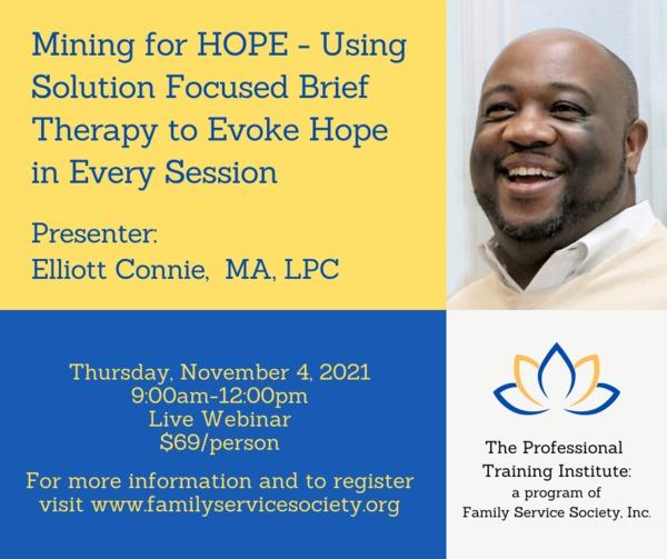 Elliott%20Connie%20Webinar - Family Service Society -Fall Professional Training Institute Webinars