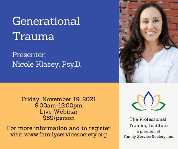 Nicole%20Klasey%20Webinar - Family Service Society -Fall Professional Training Institute Webinars