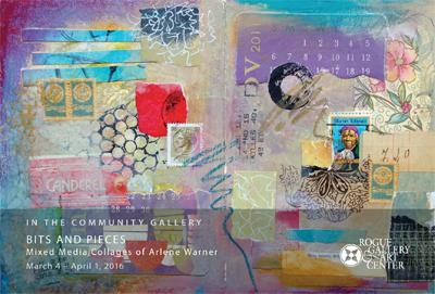 Artist Reception TODAY, Help Remodel Rogue Studio : Warner_Arlene Collage Book I