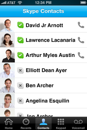 skype contacts