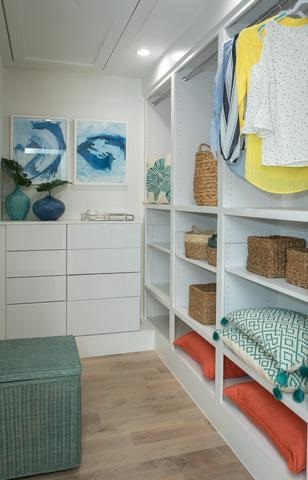 Organized Closet with storage