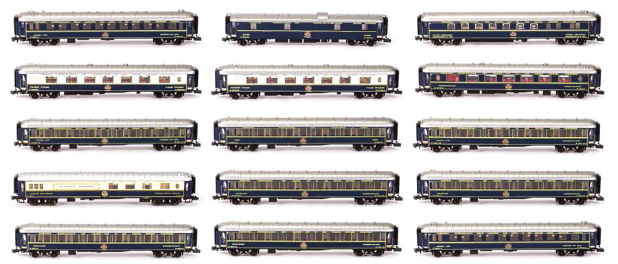 Kato's N-Scale 15pc Orient Express Set