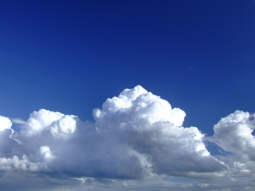 Car Maniax And The Future: Clouds In Blue Sky