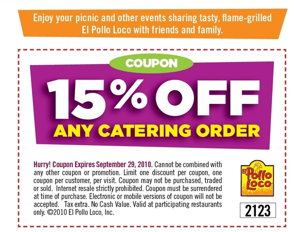 photograph about El Pollo Loco Coupons Printable titled El pollo loco low cost code catering : Car truck toys com